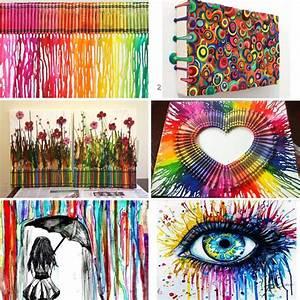 D I Y Melted Crayon Art
