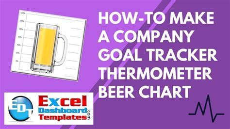 excel company goal tracker thermometer beer