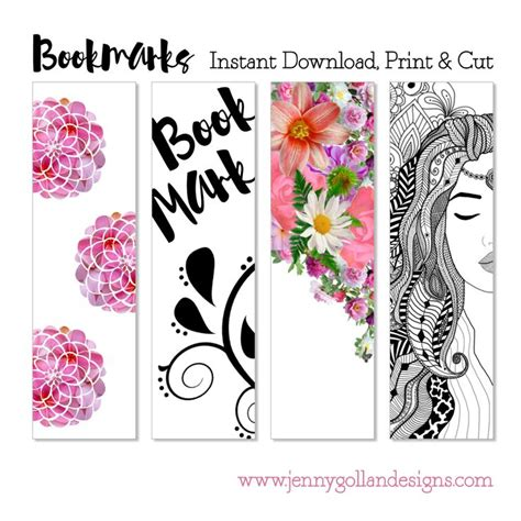 printable bookmark template bookmarks pinterest home