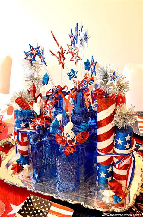 Decorating Ideas For July 4th by Decorating The Table For 4th Of July Toot Sweet 4 Two