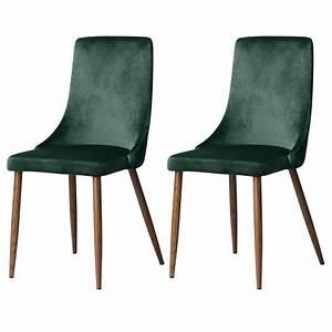Chaise Velours Design : chaise vinni en velours vert lot de 2 commandez nos chaises vinni en velours vert rdv d co ~ Teatrodelosmanantiales.com Idées de Décoration