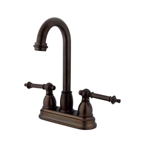 Bar Faucets Rubbed Bronze by Shop Elements Of Design Chicago Rubbed Bronze 2 Handle