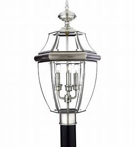 Quoizel - NY9043P - Newbury Pewter 3 Light Outdoor Post