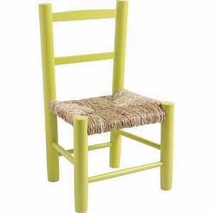 Chaise Cuisine Bois : chaise enfant paille bois anis la vannerie d 39 aujourd 39 hui ~ Melissatoandfro.com Idées de Décoration