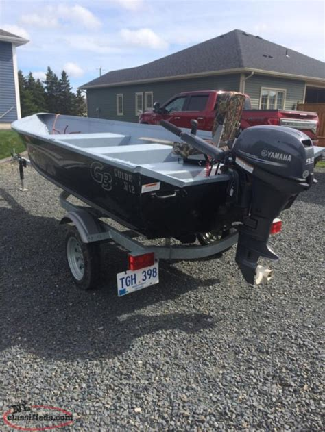 Aluminum Boats Nl Classifieds by Aluminum Boat Motor And Trailer Carbonear Newfoundland