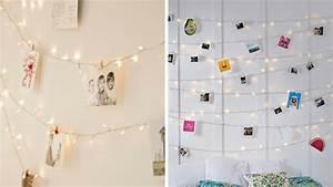 Guirlande De Photo : 4 id es pour installer une guirlande lumineuse dans une chambre ~ Nature-et-papiers.com Idées de Décoration