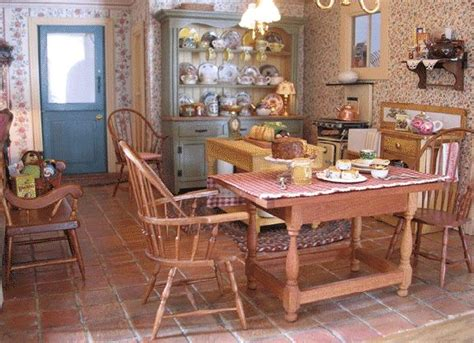 156 Best Images About Dollhouse Kitchens On Pinterest