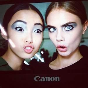 Xiao Wen Ju and Cara Delevingne   Monolid/Asian Eye-Makeup ...