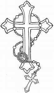 Cross with Rosary Tattoo by ~Metacharis on deviantART ...