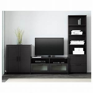 Meuble Tv Noir Ikea : brimnes combinaison meuble tv noir 258 x 41 x 190 cm ikea ~ Teatrodelosmanantiales.com Idées de Décoration