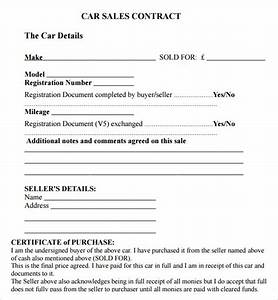 sample of private used car sale contract form and letter With private car sale agreement template