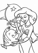 Ariel Mermaid Coloring Pages Colouring Disney Princess Printables Cartoon Cartoons sketch template