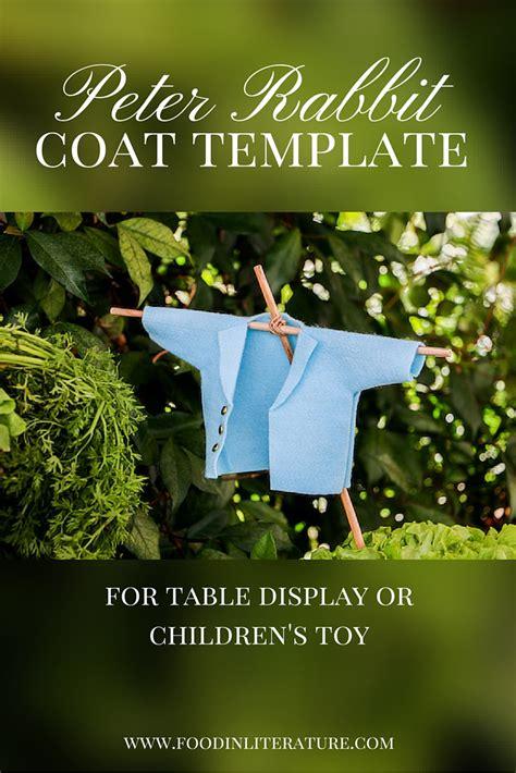 peter rabbit coat template  literature