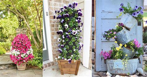 dramatic diy flower tower ideas tower garden diy