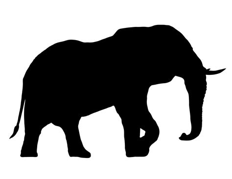 elephant silhouette front elephant side profile silhouette www imgkid the