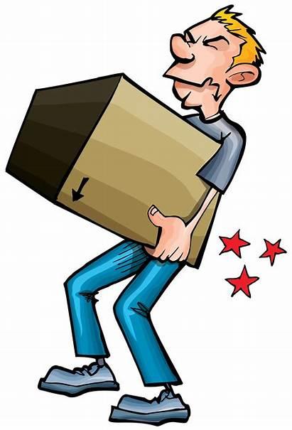 Handling Manual Clipart Cartoon Lifting Material Box