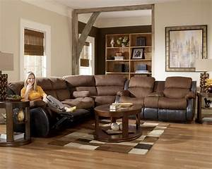 Furniture camel fabric sectional sofa with dark brown for Buchannan faux leather corner sectional sofa chestnut