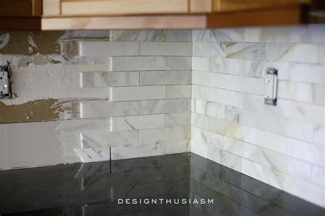 Country Kitchen Backsplash Ideas - calcatta gold marble backsplash orc kitchen renovation