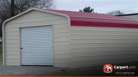 Metal Garage Building With Regular Roof 12' X 21