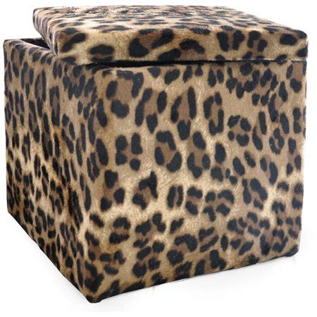 Printed Ottomans by Shop Storage Animal Print Plush Ottoman
