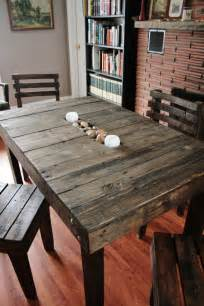 pallet wood trough table  chairs dining  upcycledwoodworks  loveleloft