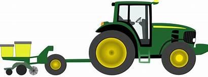 Clipart Deere Tractor John Farm Equipment Yellow