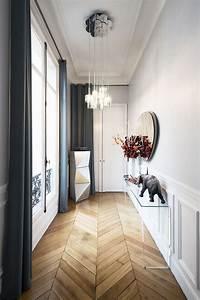 modern hallway decoration design ideas small design ideas With couleur pour couloir sombre 2 modern pop art style apartment