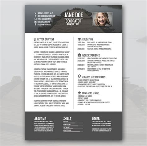 creative resume template   samples examples