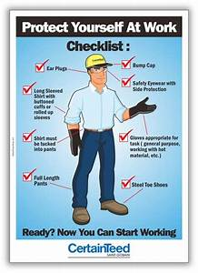 CertainTeed-PPE-poster Safety Poster Shop Safety