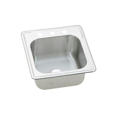 hole in sink basin elkay celebrity drop in stainless steel 20 in 3 hole