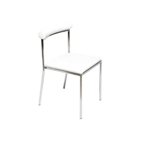 chaise de cuisine moderne lot de 4 chaises de cuisine moderne blanche léva achat