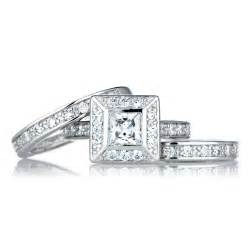 wedding ring cuts princess cut wedding ring set
