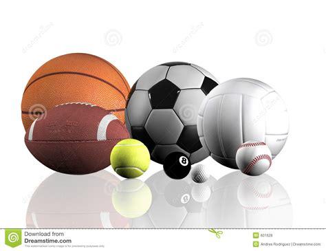 sports balls  white royalty  stock  image