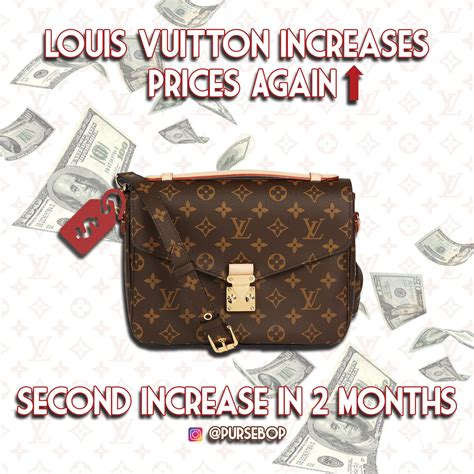 louis vuitton increases prices time