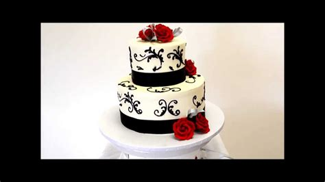Wedding Cake In Black And Red