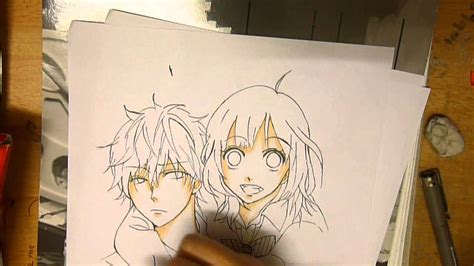 drawing erika sata ookami shoujo  kuro ouji youtube