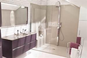 Exemple Petite Salle De Bain : modele salle de bain avec douche italienne galerie et ~ Dailycaller-alerts.com Idées de Décoration