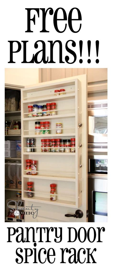 Spice Rack For Pantry Door by Diy Cabinet Door Spice Rack Woodworking Projects Plans