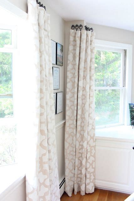 using knobs to hang curtains home window treatments