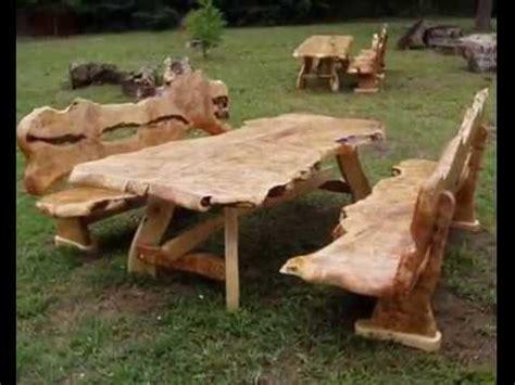 Möbel Aus Holzstämmen by Rustikale Gartenm 246 Bel Set Doovi