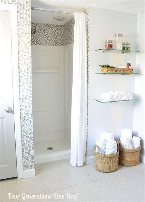 diy bathroom shower ideas diy bathroom renovation reveal budget bathroom shower