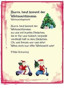 Weihnachtsgrüße Text An Chef : weihnachtsgedicht hurra heut kommt der weihnachtsmann ~ Haus.voiturepedia.club Haus und Dekorationen