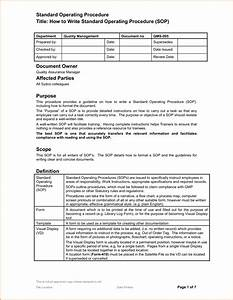 14 standard operating procedures templates With operational guidelines template