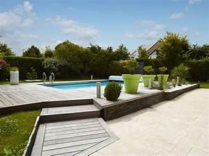 Eclairage Terrasse Piscine : terrasse bois sur mesure atelier madec nantes 44 ~ Preciouscoupons.com Idées de Décoration