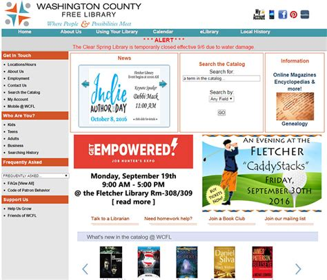 library washington county milford township west web
