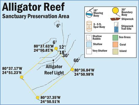 Map of Alligator Reef Sanctuary Preservation Area