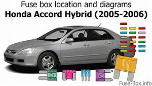 Fuse Box Location And Diagrams  Honda Accord Hybrid  2005