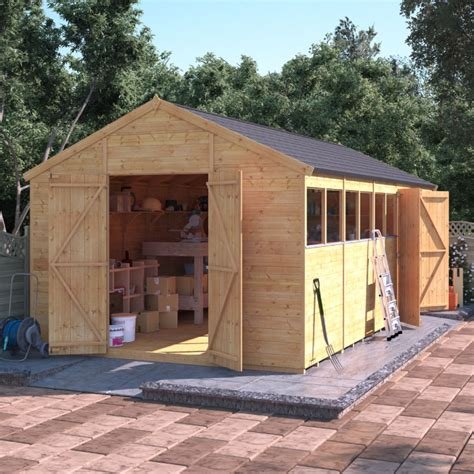 Garden Shed Sales Uk by Billyoh Expert Tongue And Groove Apex Workshop With Dual