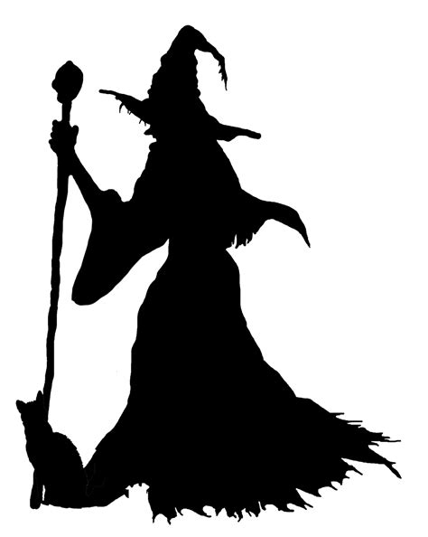 happy halloween clipart witch silhouette halloween