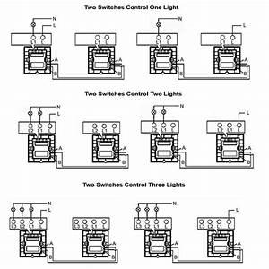 4 Gang 1 Way Switch Wiring Diagram